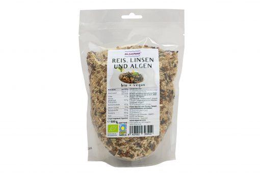 Reis, Linsen und Algen