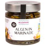 Produktfoto eines 190g Glases mit Algamar gemischte Atlantik-Algen in Marinade
