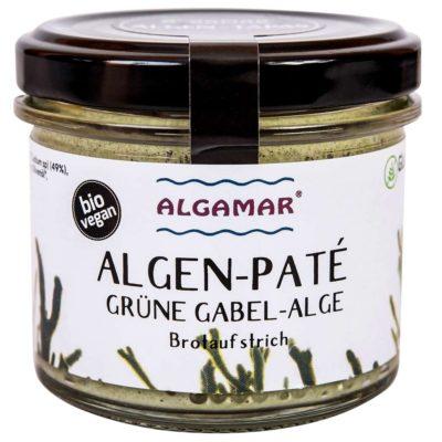 Produktfoto Algamar Algen-Paté mit grüner Gabelalge 100 g Glas Vorderseite