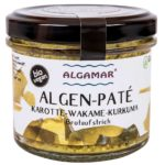 Produktfoto Algamar Algen-Paté Karotte-Wakame-Kurkuma 100 g Glas Vorderseite
