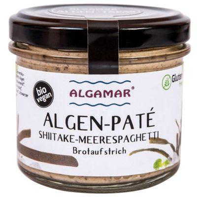 Produktfoto Algamar Algen-Paté Shiitake-Meeresspagehtti 100g Glas Vorderseite