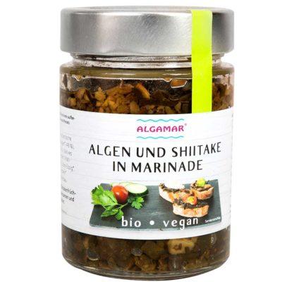 Produktfoto Algen und Shiitake in Marinade 265g Packung Vorderseite