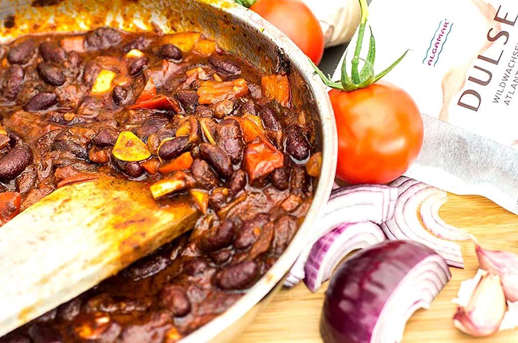 Foto eines würzigen Chili Con Dulse