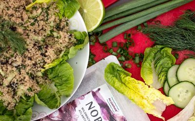 Couscous-Salat mit Nori Alge