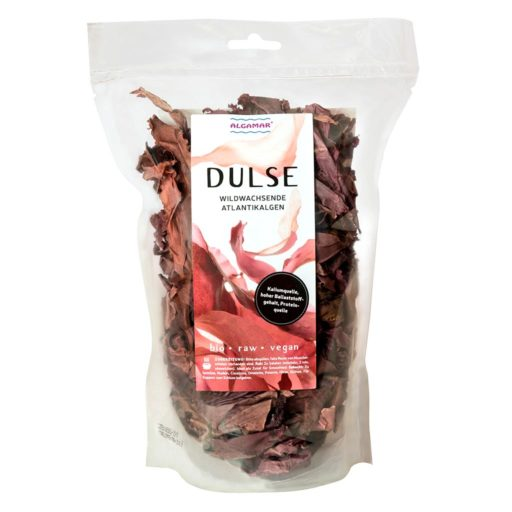 Produktfoto Algamar Dulse Algen (Lappentang) 100g Packung Voderseite
