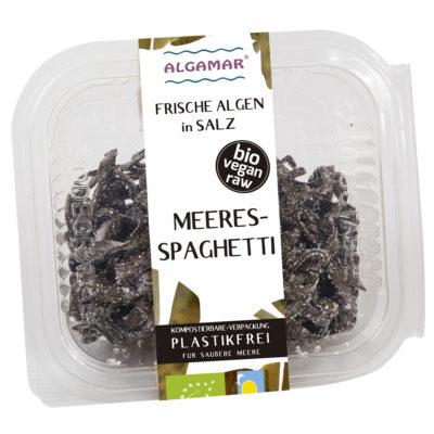 Foto van 100g verpakking Algamar verse zeespaghetti in zout