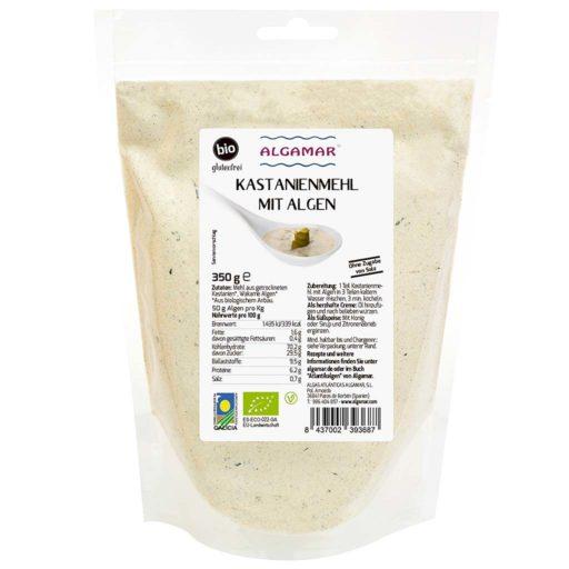 Produktfoto Algamar Kastanienmehl mit Algen 350g Packung Vorderseite