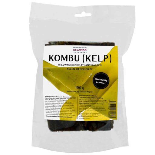 Produktfoto Algamar Kombu Algen 100g Packung Vorderseite