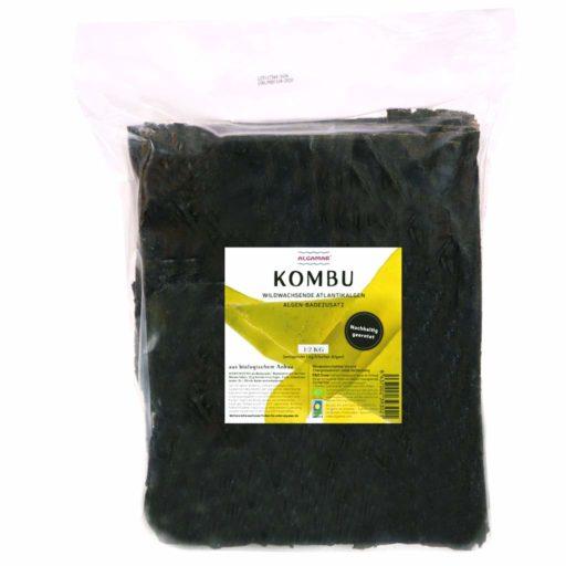 Produktfoto Algamar Kombu Algen 500g Packung Vorderseite