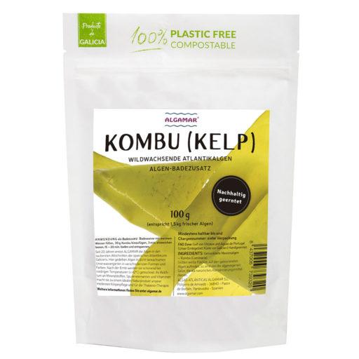 Producktfoto Algamar Kombu Algen 100g Packung Vorderseite