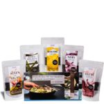 Produktfoto der Algamar Meeresalgen Starterbox, bestehend aus getrockneten Wakame, Dulse, Nori, Meeresspaghetti, Salatalgen