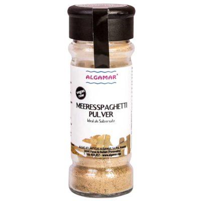 Produktfoto Algen-Gewürz aus Meeresspaghetti Pulver 70g Glas