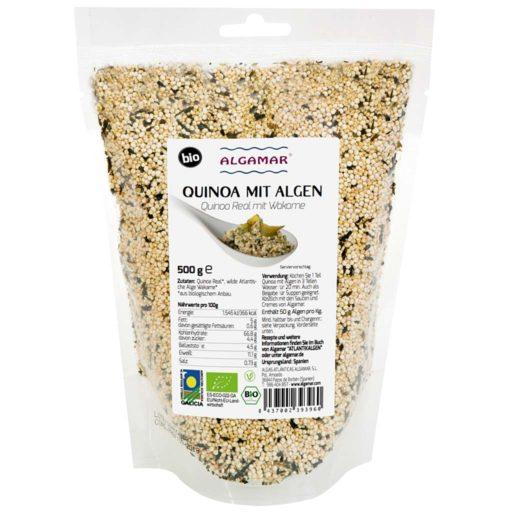 Produktfoto Algamar Quinoa mit Algen 500g Packung Vorderseite