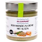 Produktfoto Algamar Rohmandelcreme mit Algenpastete mit Algen 180g Glas Voderseite