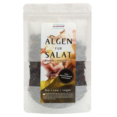 Produktfoto Verpackung Algamar Algen für Salat 25g Packung Vorderseite