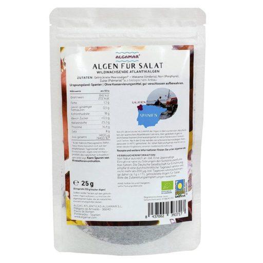 Produktfoto Verpackung Algamar Algen für Salat Vorderseite