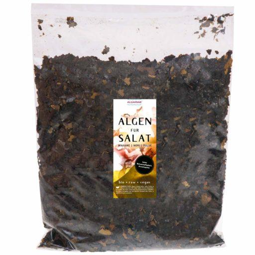 Produktfoto Verpackung Algamar Algen für Salat 500g Packung Vorderseite