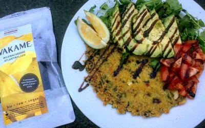 Veganes Omelette mit Wakame Algen
