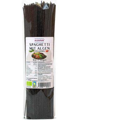 Produktfoto Vollkornspaghetti mit Meeresspaghetti Algen 250g Packung Vorderseite