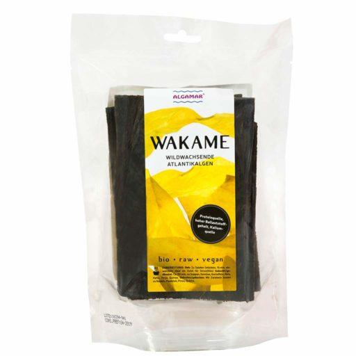 Produktfoto Algamar Wakame Algen 100g Packung Vorderseite