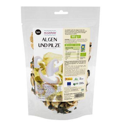 Produktfoto von Wakame Algen mit Shiitake Pilzen 100g Packung Vorderseite