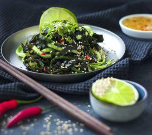 Foto eines Wakame Gurkensalates