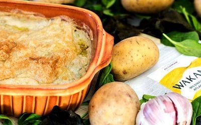 Wakame Kartoffelauflauf mit Babyspinat