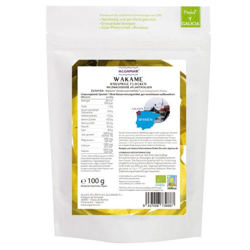 Produktfoto Wakame knusprige Flocken Algen-Topping 100g Rückseite