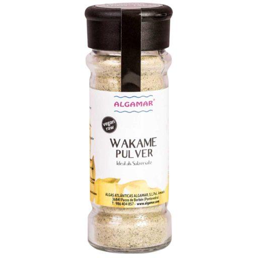 Produktfoto Wakame Pulver Algen-Gewürz aus Meeresspaghetti Pulver 70g Glas