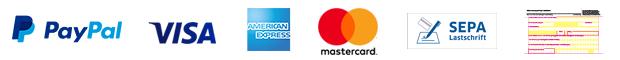 Logos der Zahlungdienstleister