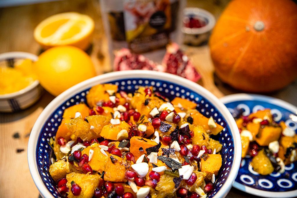 Foto Kürbis Orangen Salat