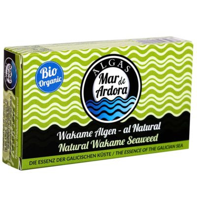 Produktfoto Verpackung gekochte Wakamealgen al Natural Alge von Mar de Ardora